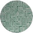 rug #293453   round blue-green rug