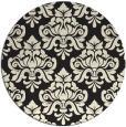 rug #297149 | round black rug