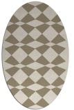 rug #297900 | oval check rug
