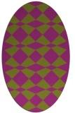 rug #298128   oval check rug
