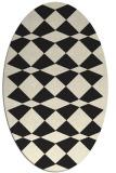 rug #298205 | oval black rug