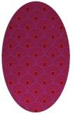 rug #299909 | oval red rug