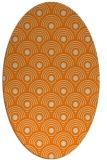 rug #299973 | oval orange rug