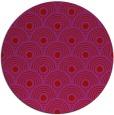 rug #300613   round pink rug