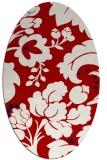 rug #301657 | oval red rug
