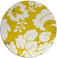 rug #302421 | round yellow rug