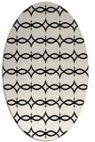 rug #304941 | oval black rug