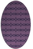 rug #305033 | oval purple rug