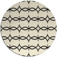 rug #305949 | round black rug