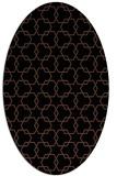 rug #308473 | oval black rug