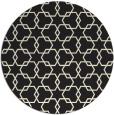 rug #309469 | round black rug
