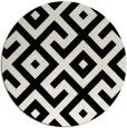 rug #314445   round black rug
