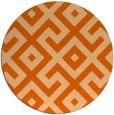 rug #314701 | round red-orange rug