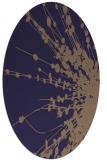 rug #315605   oval blue-violet rug