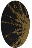 rug #315613 | oval mid-brown rug