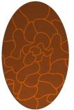 rug #319281 | oval red-orange rug