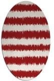 rug #324545 | oval red rug