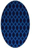 rug #327985   oval blue rug