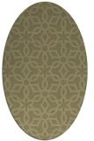 rug #329901 | oval light-green rug