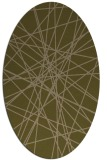 rug #333217 | oval mid-brown rug