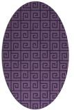 rug #334953 | oval purple rug