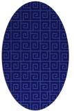 rug #334961 | oval blue-violet rug