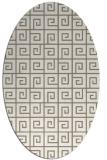 rug #334997 | oval mid-brown rug