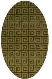 rug #335085 | oval purple rug