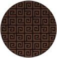 rug #335577 | round black rug
