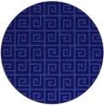 rug #335665 | round blue-violet rug