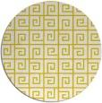 rug #335861 | round yellow rug