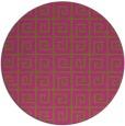rug #335889 | round light-green rug