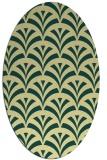rug #336821 | oval blue-green rug