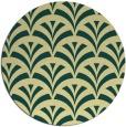 rug #337525 | round blue-green rug