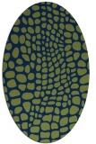 rug #341933 | oval green rug