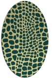 rug #342101 | oval blue-green rug