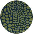 rug #342637 | round green rug