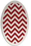 rug #354465 | oval red rug