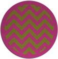 rug #355249 | round light-green rug