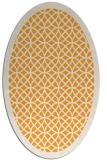 rug #356325 | oval light-orange rug