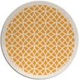 rug #357029 | round light-orange rug
