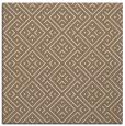 rug #371617   square mid-brown rug