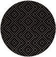 rug #372533 | round black rug