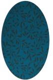 rug #378937   oval blue rug