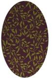 rug #379085 | oval green rug