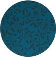 rug #379641 | round blue-green rug
