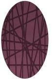 rug #380775 | oval abstract rug