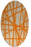 rug #380933 | oval orange rug