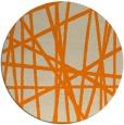 rug #381637 | round orange rug
