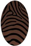 rug #387673 | oval brown rug